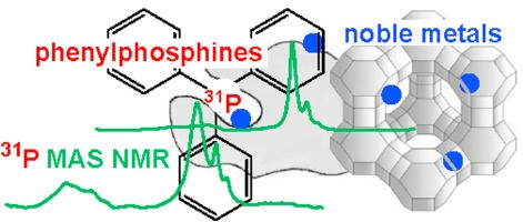 Noble metal location in porous supports determined by reaction with phosphines