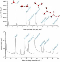 Field evaporation and atom probe tomography of pure water tips