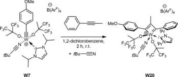 Cationic Tungsten Alkylidyne N‑Heterocyclic Carbene Complexes: Synthesis and Reactivity in Alkyne Metathesis
